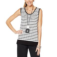 MarlaWynne Stripe Sweater Tank