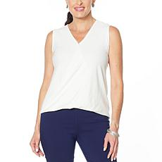 MarlaWynne Striped Knit Sleeveless Twist Top