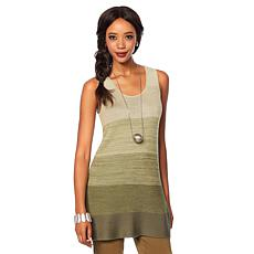 MarlaWynne Sweater Knit Colorblock Tank