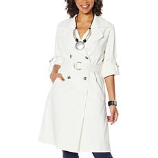 MarlaWynne Trench Jacket with Removable Sash