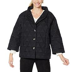 MarlaWynne Triangular Quilted Coat