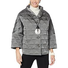 MarlaWynne Triangular Quilted Coat
