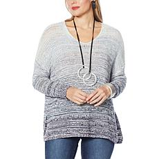 MarlaWynne Unstructured Ombré Marled Knit Sweater