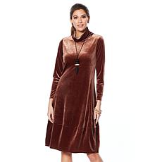 MarlaWynne Velvet Balloon Dress