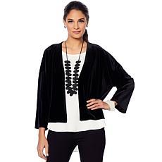 MarlaWynne Velvet Kimono Sleeve Cardigan