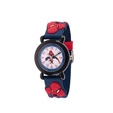 Marvel Spider-Man Kid's Time-Teacher Blue Plastic Strap  Watch