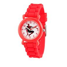 Marvel Spider-Man Kid's Time-Teacher Red Strap Bracelet Watch