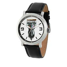 "Marvel's Avengers ""Infinite Power"" Silvertone Black Strap Watch"