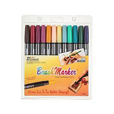 Marvy Uchida Brush Marker Set of 12