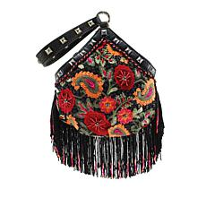 Mary Frances Embroidered Wristlet Bag