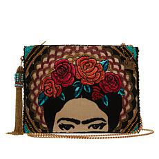 Mary Frances Frida Handmade Beaded Clutch Crossbody Bag