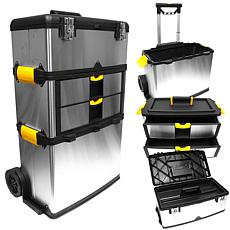 Massive and Mobile 3-part Stainless-Steel Tool Box