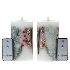 "Matchless 6.5"" Holiday Inclusion Candle 2-pack"