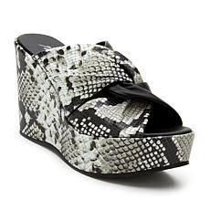 Matisse Cavalli Snake-Print Leather Platform Wedge
