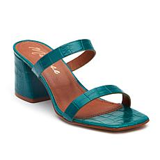 Matisse Madrid Croco-Embossed Leather Block-Heel Sandal