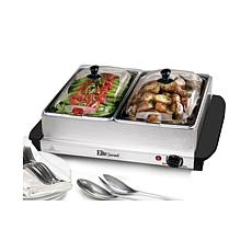 Maxi-Matic Elite Gourmet 2.5-Qt Stainless Steel Electric Buffet Server