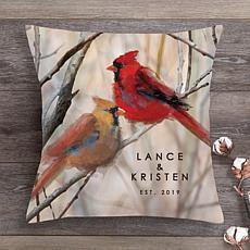 MBM Cardinal Couple Personalized Throw Pillow