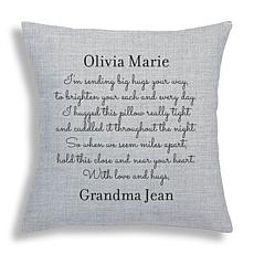 MBM Hugs from Home Personalized Throw Pillow