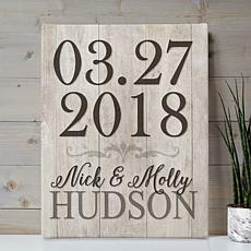 MBM Special Date Personalized 11x14 Canvas