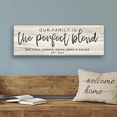 MBM The Perfect Blend Personalized 9x27 Ivory Canvas
