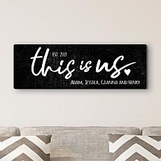 MBM This Is Us Personalized 9x27 Canvas