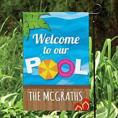 MBM Welcome To Our Pool Personalized Garden Flag