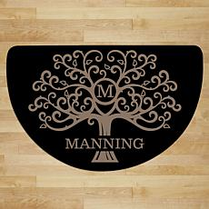 MBM Welcome Tree Personalized Half Round Doormat