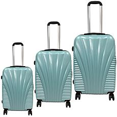 McBrine 3-piece Hardside Luggage Set with Polycarbonate Film Top