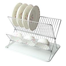 Mega Chef Wire Dish Rack With Plastic Tray