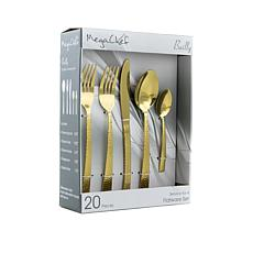 MegaChef Baily 20 Piece Flatware Utensil Set, Stainless Steel Silve...