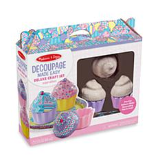 Melissa & Doug Decoupage Made Easy Deluxe Craft Set - Cupcakes