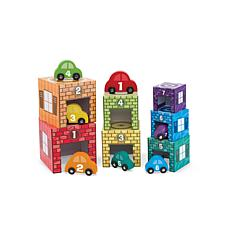 Melissa & Doug Nesting and Sorting Garages & Cars