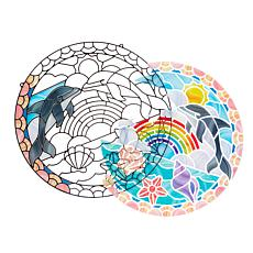Melissa & Doug Stained Glass - Dolphins