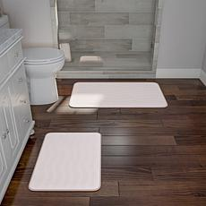 Memory Foam 2-piece Bath Mat Set - Ivory
