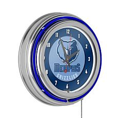 Memphis Grizzlies Double Ring Neon Clock