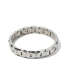 Men's 0.09ctw Diamond-Accented Stainless Steel Bracelet