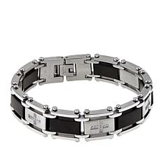 Men's 0.25ctw Diamond Black Link Bracelet