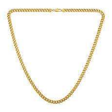"Men's 30"" Goldtone Stainless Steel Box-Link Chain Necklace"