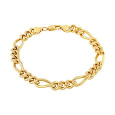 Men's Gold-Tone Stainless Steel Figaro Link Bracelet