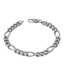 Men's Goldtone Stainless Steel Figaro Link Bracelet