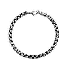 Men's Stainless Steel Box Chain Bracelet