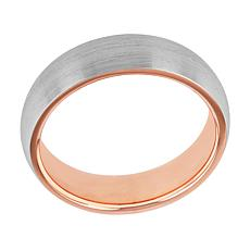 Men's Stainless Steel Brushed Silver-Tone Band Ring