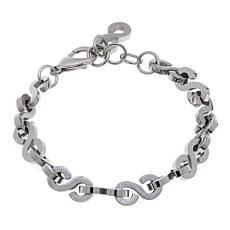 "Men's Stainless Steel S-Shape Link 8-1/2"" Bracelet"