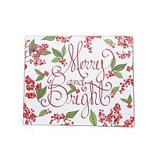 Merry & Bright Berries Hardboard Placemat 6-Pack