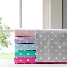 Mi Zone Polka Dot Cotton Sheet Set - Dark Pink - Twin
