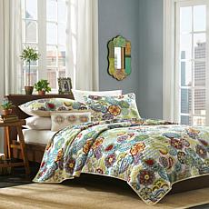 Mi Zone Tamil  Printed Coverlet  Set - Full/Queen