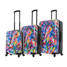 Mia Toro Duaiv Splash 3-piece Luggage Set