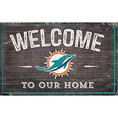 Miami Dolphins 11x19 Welcome to our Home Sign
