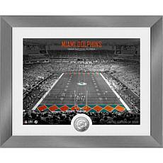 Miami Dolphins Art Deco Stadium Silver Coin Photo Mint