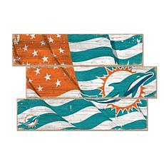 Miami Dolphins Flag 3 Plank